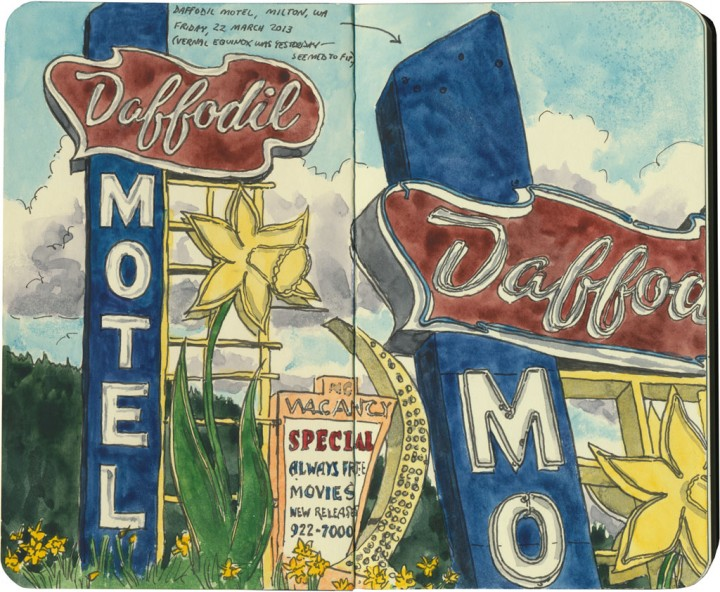 Daffodil Motel sketch by Chandler O'Leary