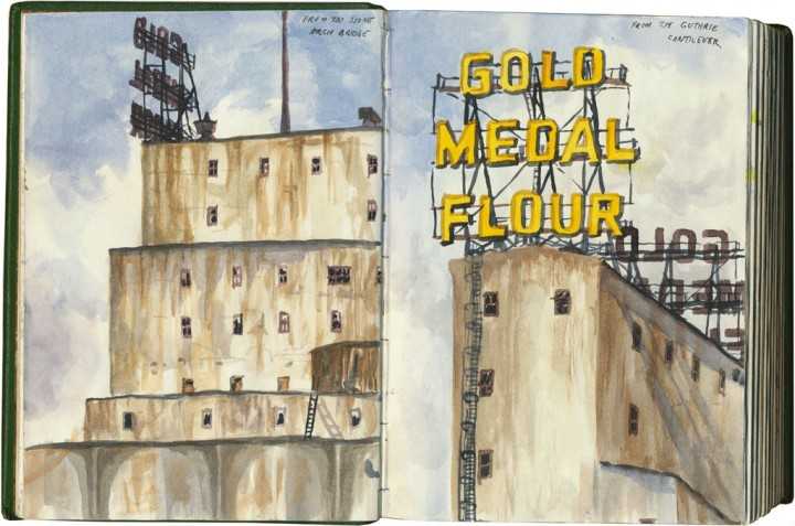 Gold Medal Flour sketch by Chandler O'Leary