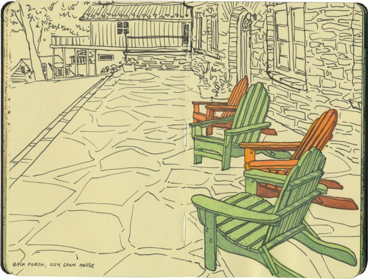 Adirondack chairs sketch by Chandler O'Leary