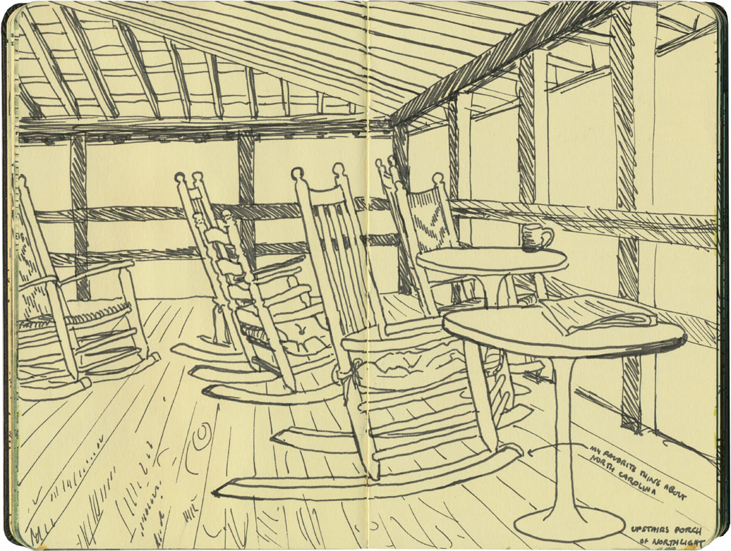 Merveilleux Rocking Chairs Sketch By Chandler Ou0027Leary