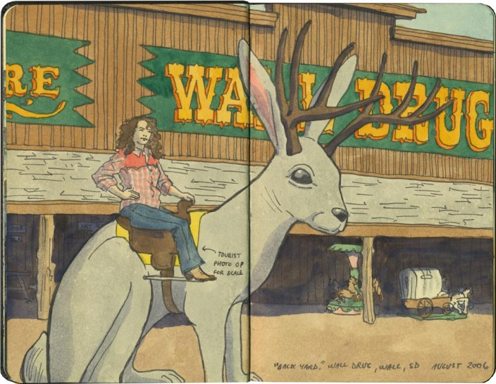 Wall Drug sketch by Chandler O'Leary