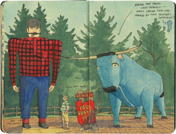 Bemidji Paul Bunyan sketch by Chandler O'Leary