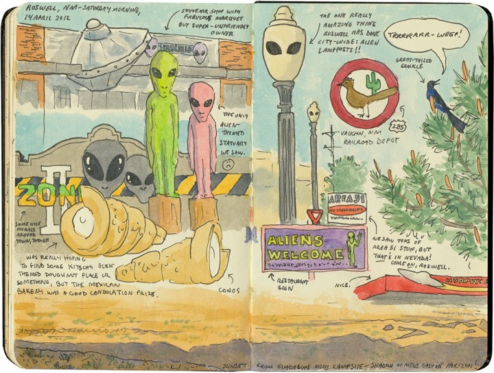 Roswell sketch by Chandler O'Leary