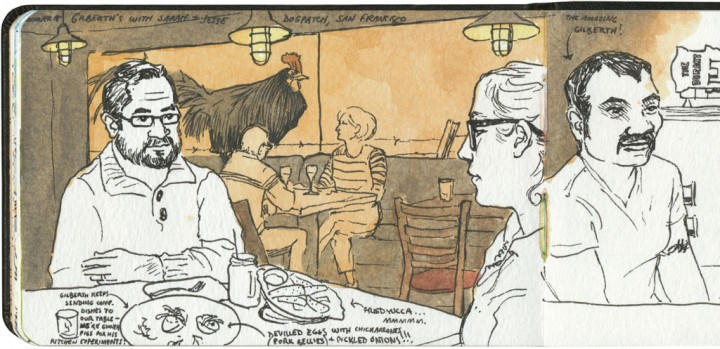 Dogpatch restaurant sketch by Chandler O'Leary