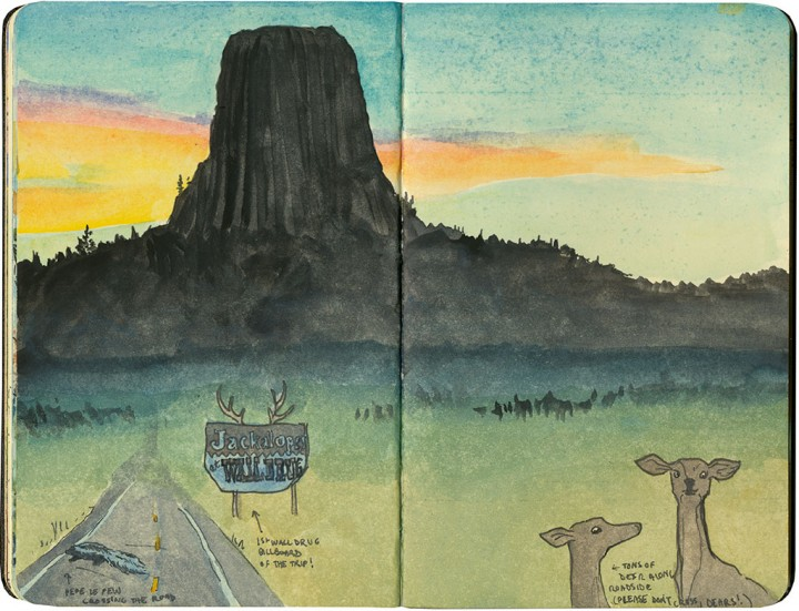 Devils Tower sketch by Chandler O'Leary