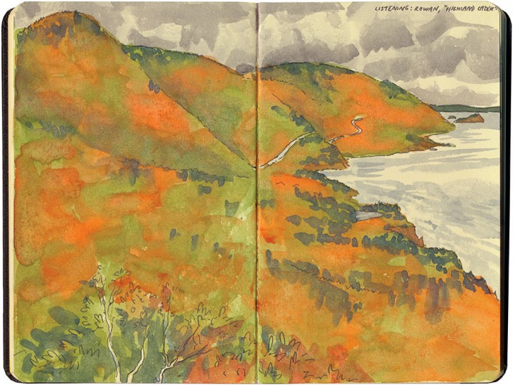 Cabot Trail sketch by Chandler O'Leary
