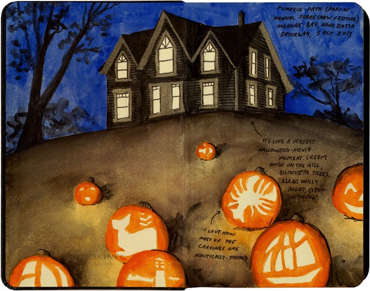 Jack-o-lanterns sketch by Chandler O'Leary