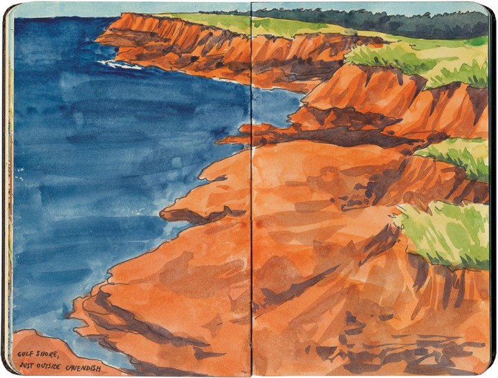 Prince Edward Island sketch by Chandler O'Leary