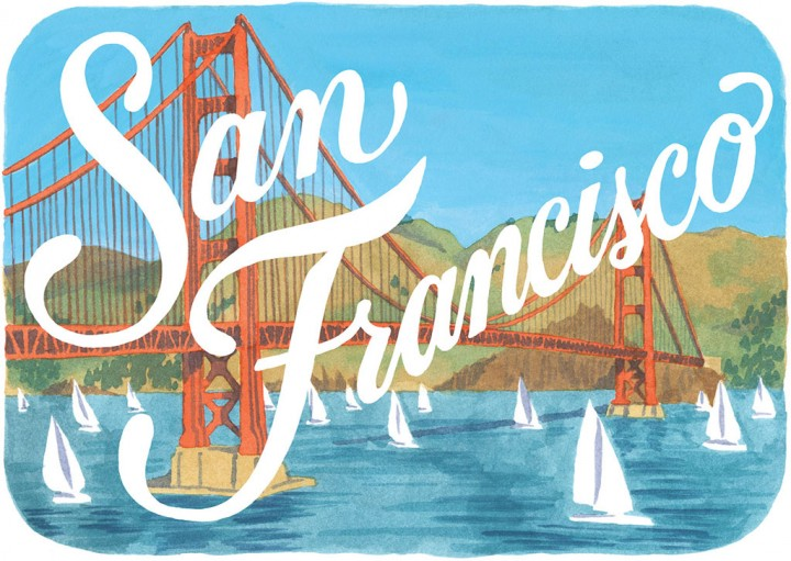 San Francisco print by Chandler O'Leary