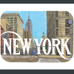 New York illustration by Chandler O'Leary