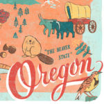 Oregon illustration by Chandler O'Leary