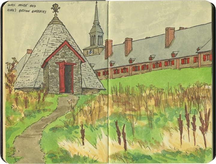 Louisbourg sketch by Chandler O'Leary