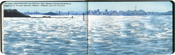 San Francisco Bay sketch by Chandler O'Leary