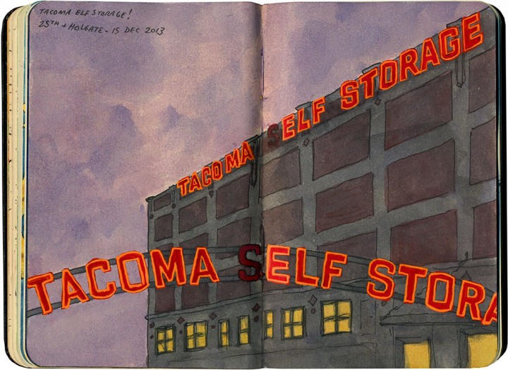 "Tacoma ""Elf"" Storage sketch by Chandler O'Leary"