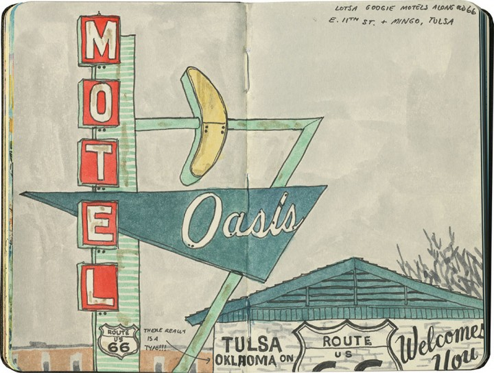 Oasis Motel sketch by Chandler O'Leary
