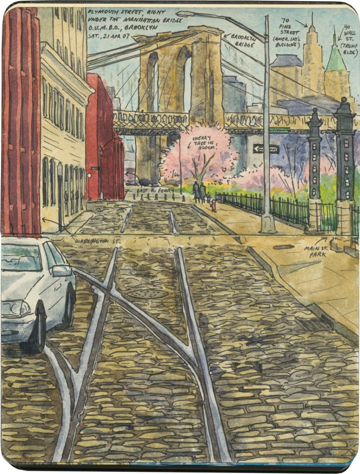 Brooklyn Bridge sketch by Chandler O'Leary