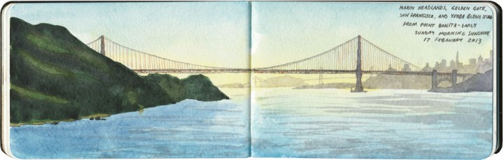 Golden Gate Bridge sketch by Chandler O'Leary