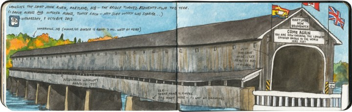 World's longest covered bridge sketch by Chandler O'Leary