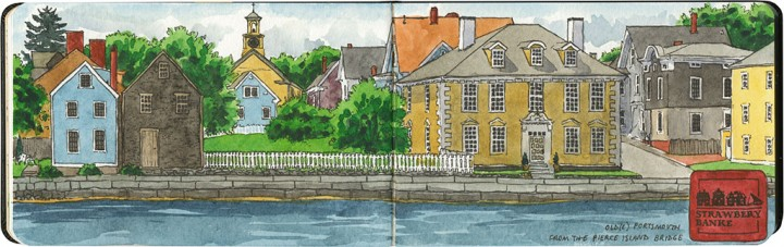 Strawbery Banke sketch by Chandler O'Leary