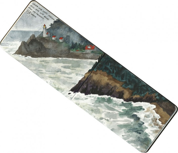 Heceta Head Lighthouse sketch by Chandler O'Leary