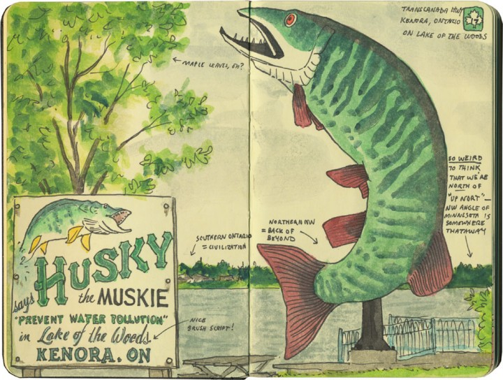 Husky the Muskie sketch by Chandler O'Leary