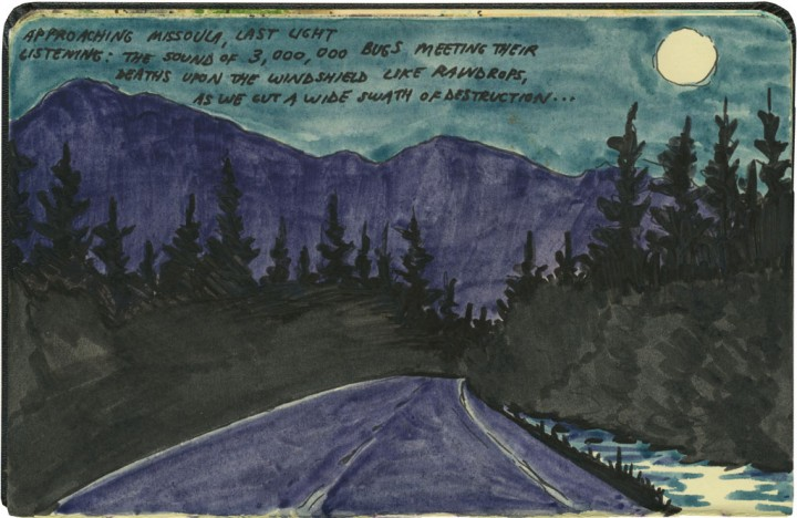 Montana night sketch by Chandler O'Leary