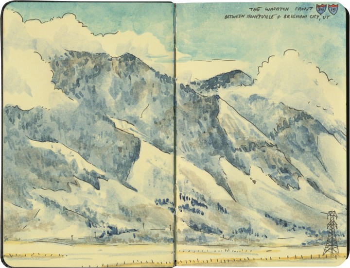 Wasatch mountains sketch by Chandler O'Leary