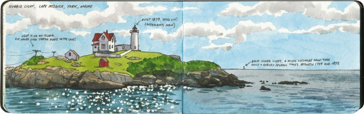 Nubble Light sketch by Chandler O'Leary