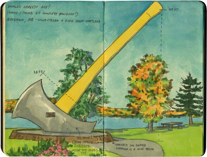 World's Largest Axe sketch by Chandler O'Leary