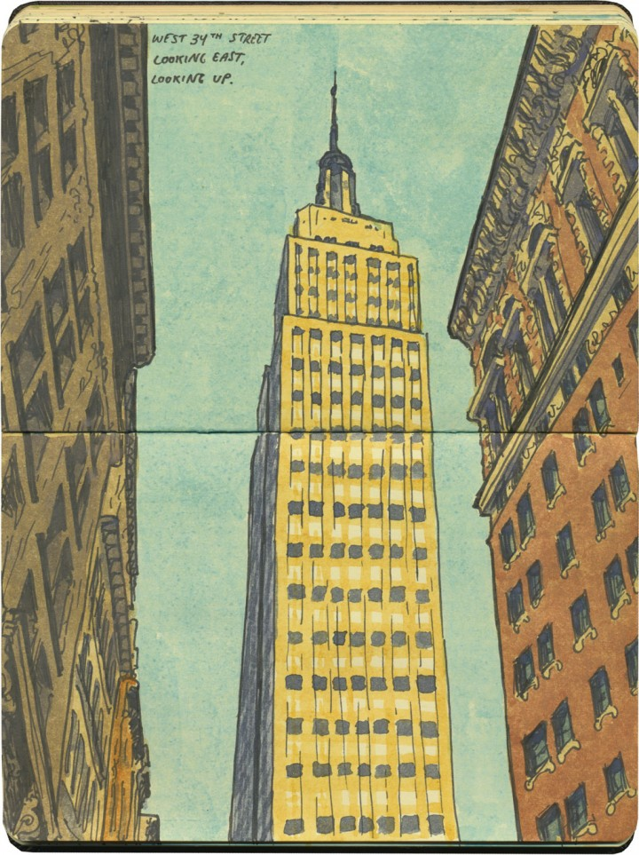 Empire State Building sketch by Chandler O'Leary