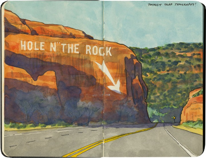 """Hole n' the Rock"" sketch by Chandler O'Leary"