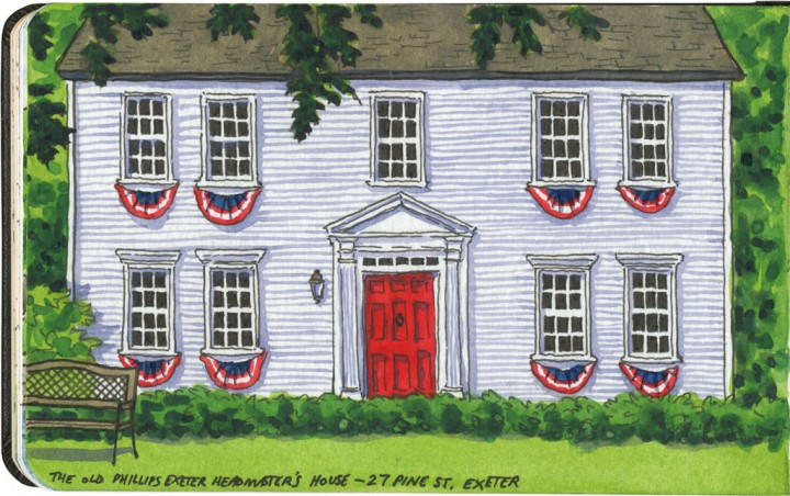 Colonial house sketch by Chandler O'Leary