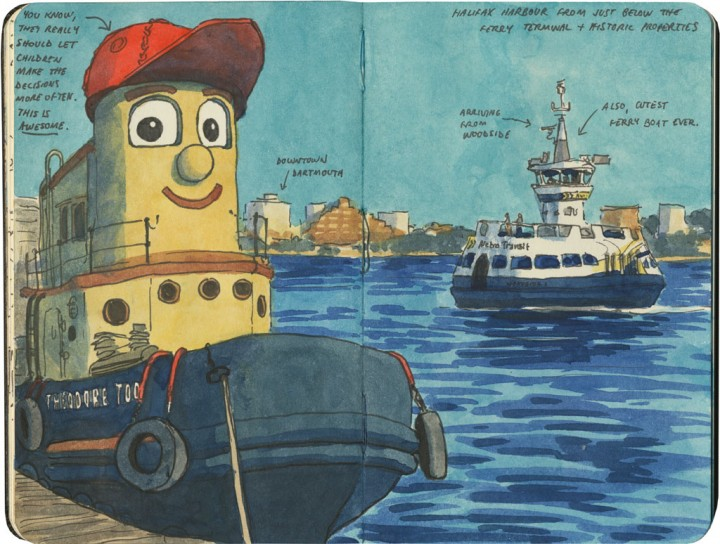 Tugboat sketch by Chandler O'Leary