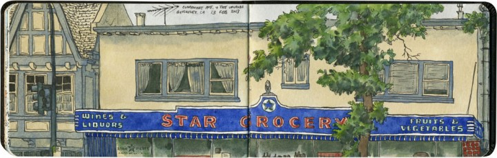 Star Grocery sketch by Chandler O'Leary