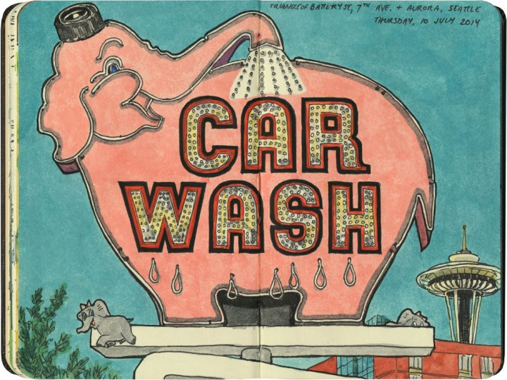 Elephant Carwash sketch by Chandler O'Leary