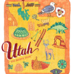 Utah illustration by Chandler O'Leary