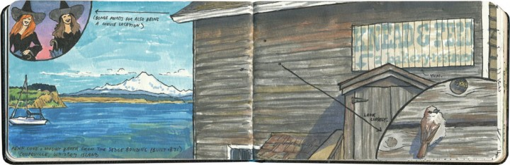 Whidbey Island sketch by Chandler O'Leary