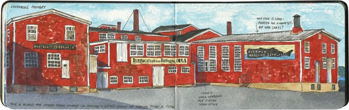 Lunenburg foundry sketch by Chandler O'Leary
