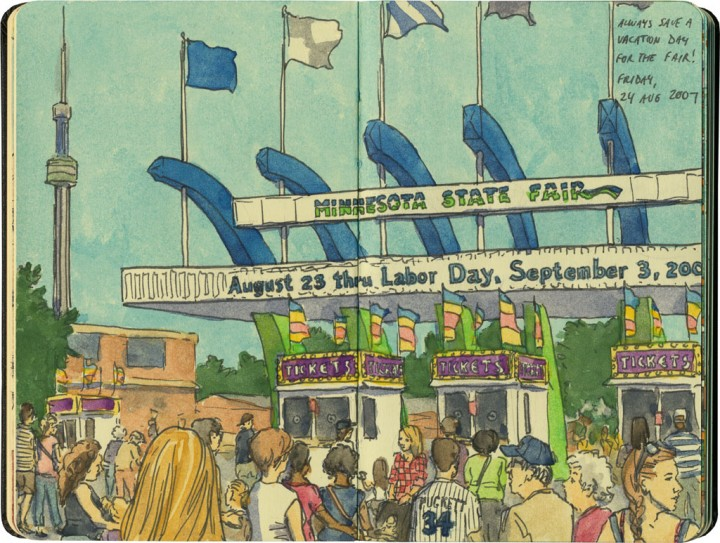 Minnesota State Fair sketch by Chandler O'Leary