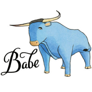 Babe the Blue Ox temporary tattoo by Chandler O'Leary
