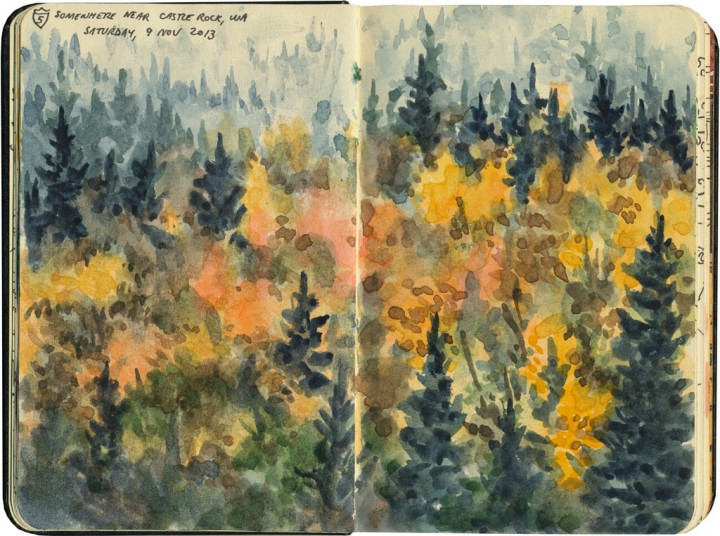 Fall foliage sketch by Chandler O'Leary