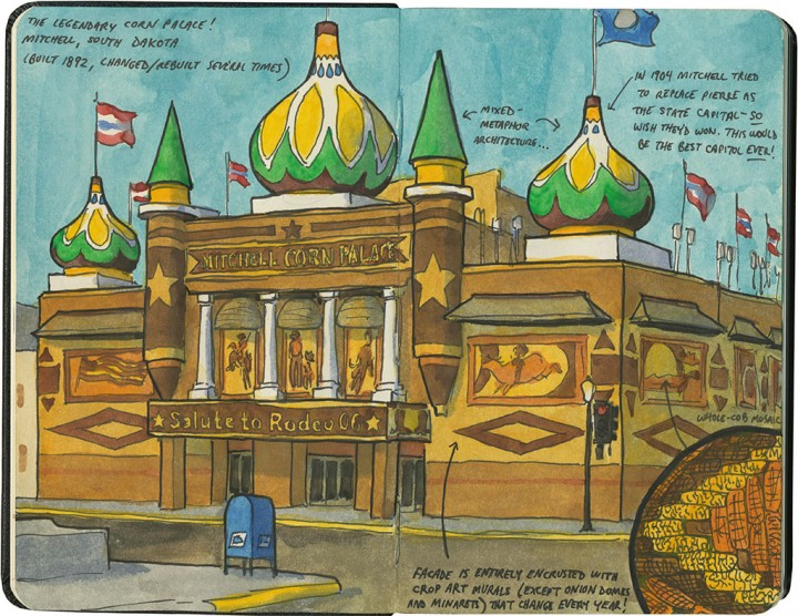Corn Palace sketch by Chandler O'Leary