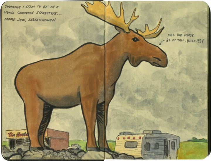 World's Largest Moose sketch by Chandler O'Leary
