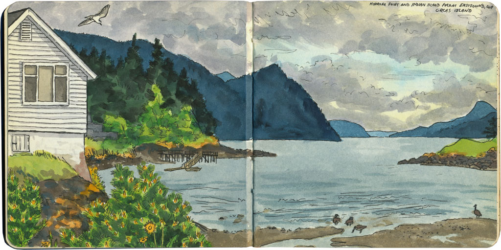 Orcas Island sketch by Chandler O'Leary
