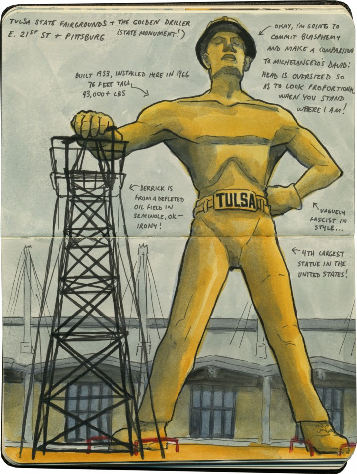 Golden Driller sketch by Chandler O'Leary