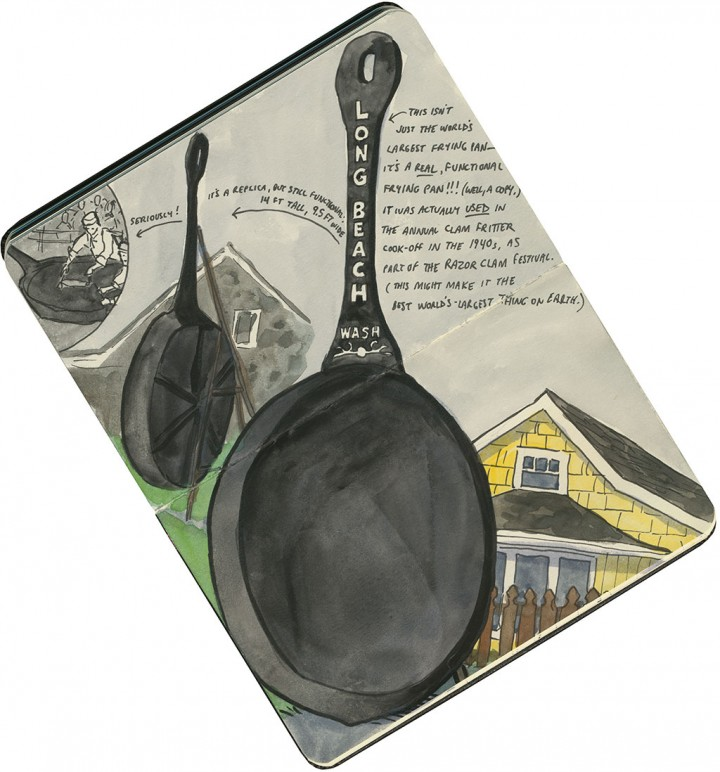 Giant Frying Pan sketch by Chandler O'Leary