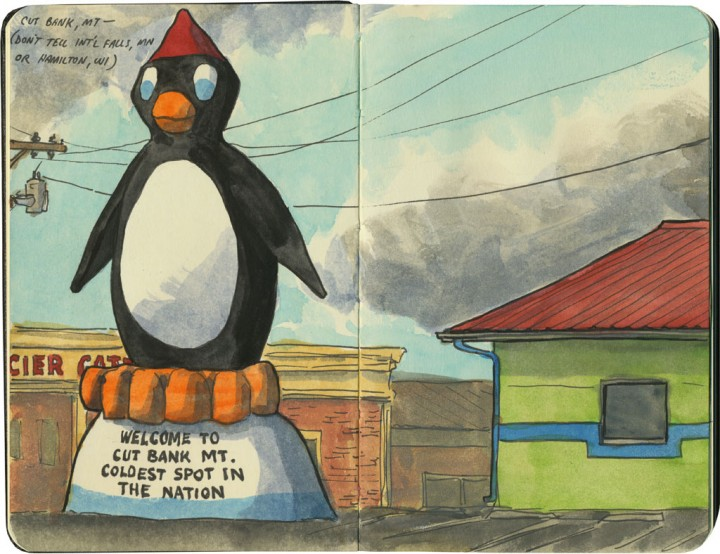 Cut Bank Penguin sketch by Chandler O'Leary