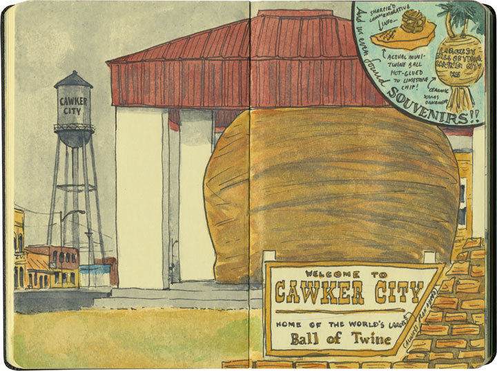 World's Largest Ball of Twine sketch by Chandler O'Leary