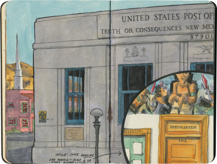 Truth or Consequences, NM sketch by Chandler O'Leary