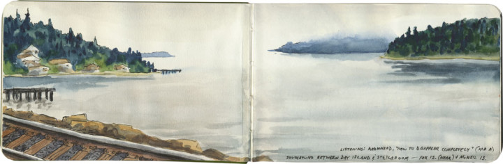 Puget Sound sketch by Chandler O'Leary
